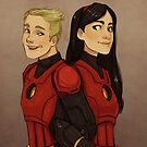 Disney Jaegers - Dash and Violet by jiinsy