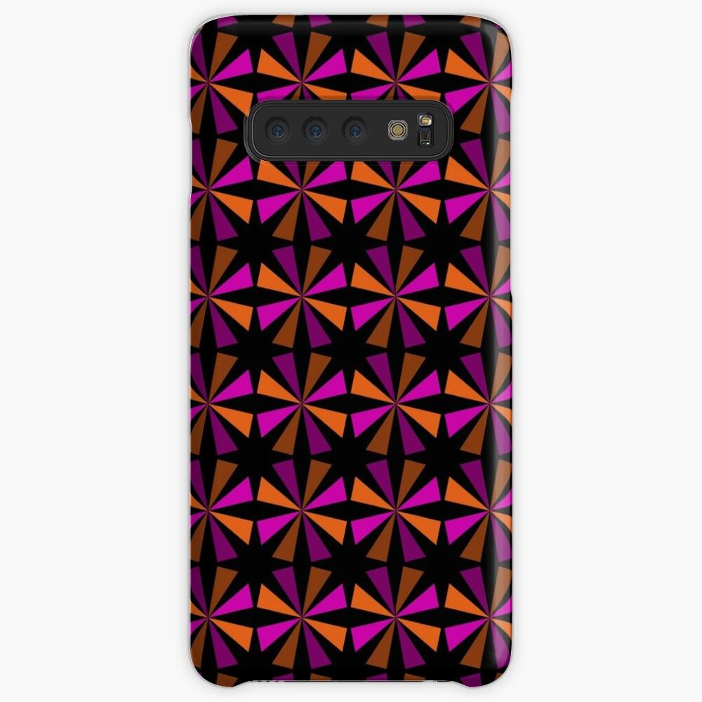 Geometric Pattern: Star: Orange/Pink Case & Skin for Samsung Galaxy