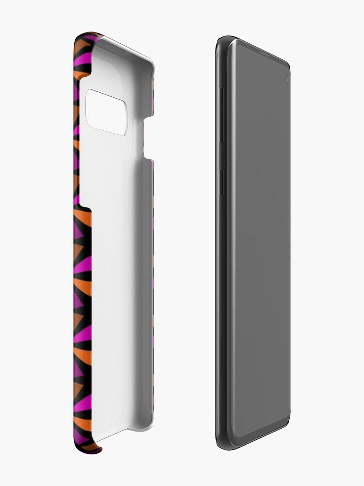 Alternate view of Geometric Pattern: Star: Orange/Pink Case & Skin for Samsung Galaxy