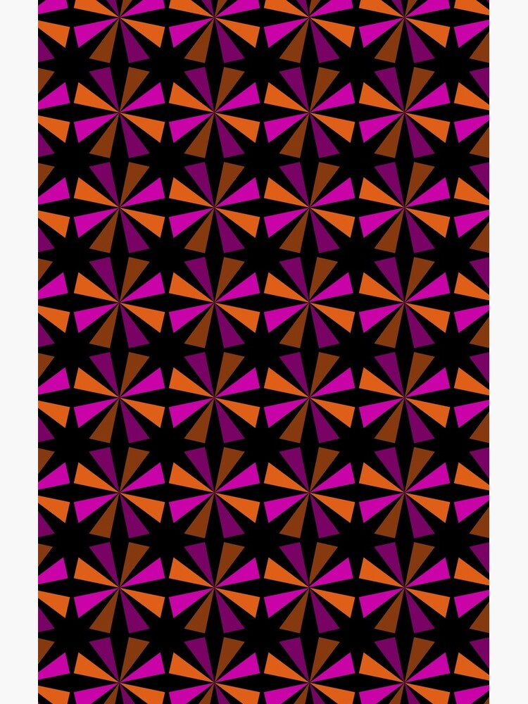 Geometric Pattern: Star: Orange/Pink by redwolfoz