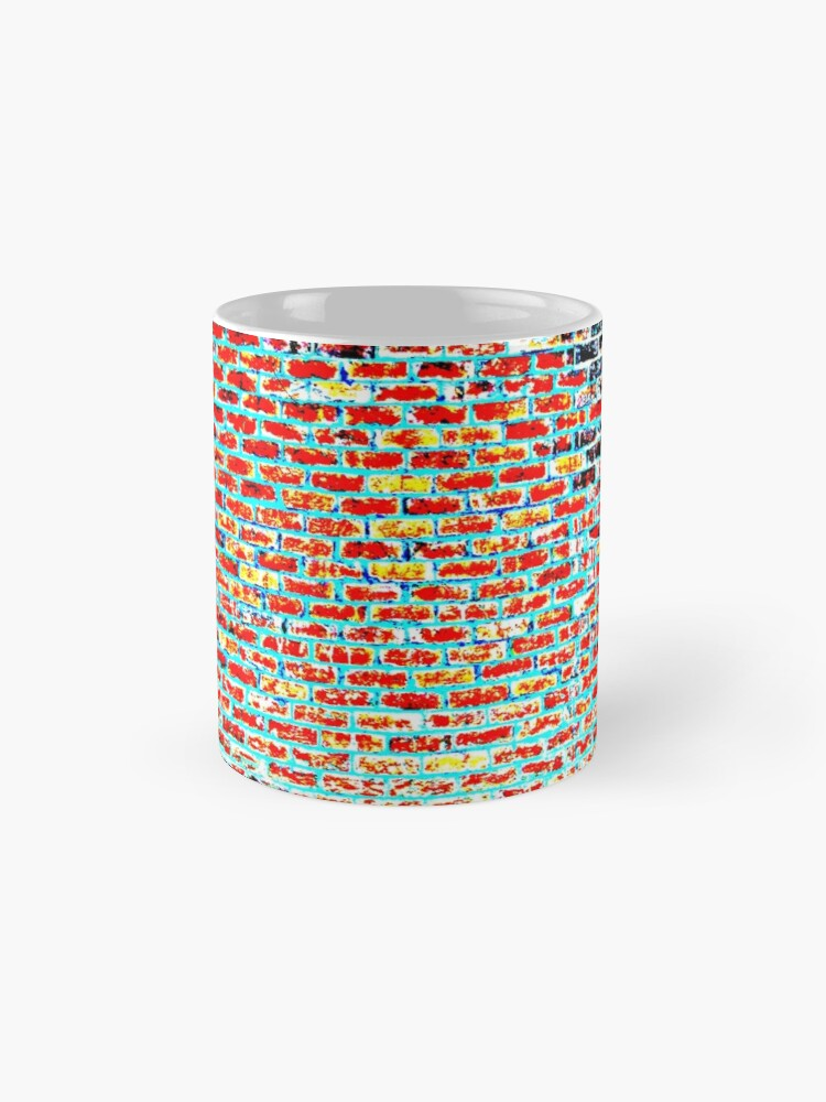 Alternative Ansicht von Ziegel abstrakt Tassen