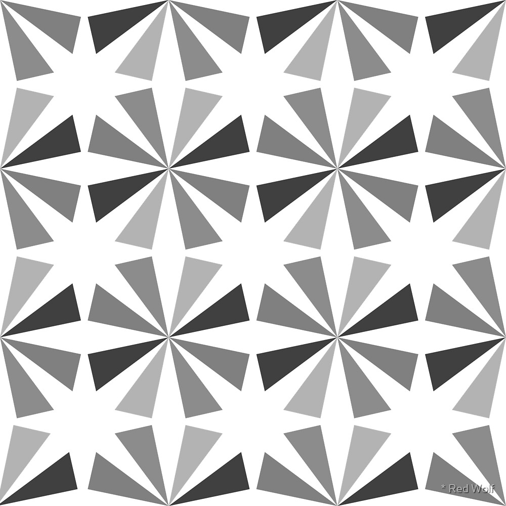 Geometric Pattern: Star: Grey/White by * Red Wolf