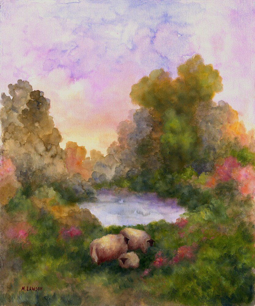 SHEEP IN THE MEADOW by Mary  Lawson