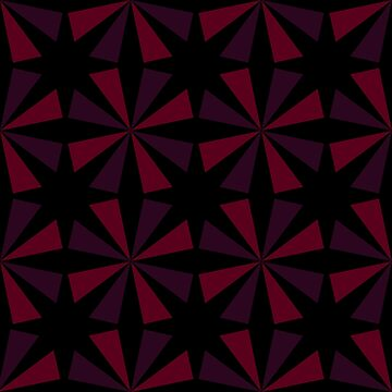 Geometric Pattern: Star: Red/Black by redwolfoz