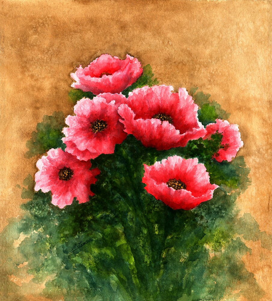 RED BOUQUET by Mary  Lawson