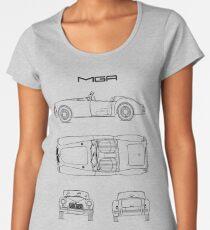 MGA Sports Car Blueprint Premium Scoop T-Shirt