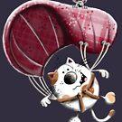 Flying Paragliding Cat Cartoon by modartis