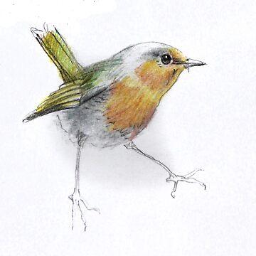 Cheerful bird by denisovanv