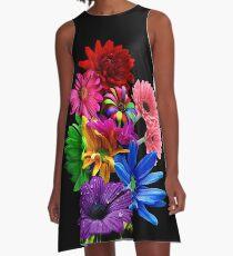 Blumenkorb A-Linien Kleid