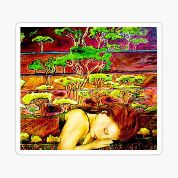 Jade's Dream - Oil Painting Sticker