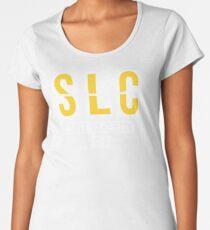 SLC - Salt Lake City Airport Code Souvenir or Gift Shirt Women's Premium T-Shirt