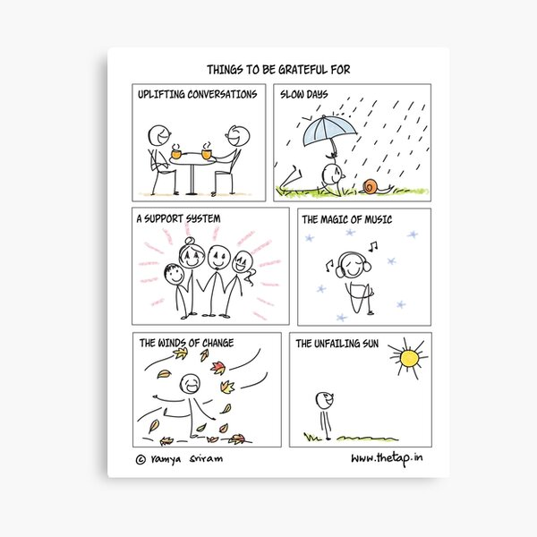 Things to be grateful for Canvas Print