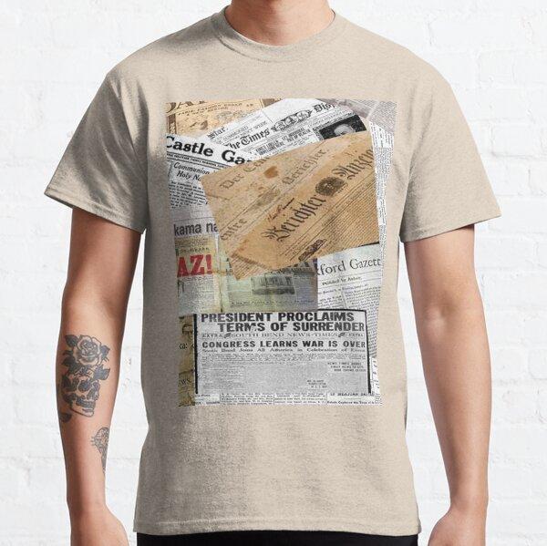 Vintage newspaper Classic T-Shirt
