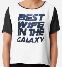 Best Wife in the Galaxy Trends T-Shirt Birthday Valentine Chiffon Top