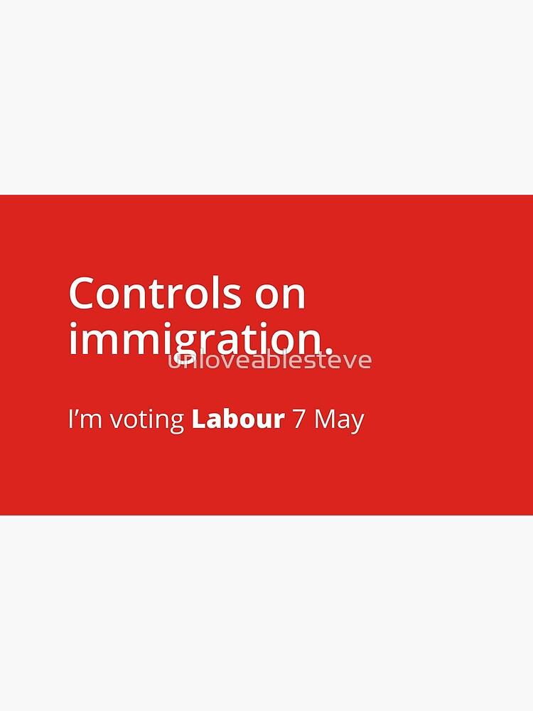 Controls on immigration: Labour tribute mug by unloveablesteve