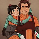 Disney Jaegers - Vanellope and Ralph  by jiinsy