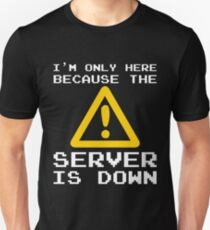 Server Is Down Gamer Funny Quote T-Shirt Gift Unisex T-Shirt