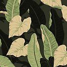 Tropical banana leaves by Orce Vasilev
