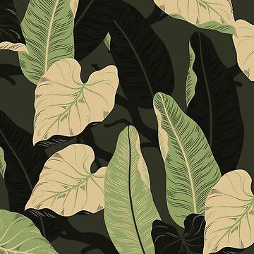Hojas de plátano tropical de Orce