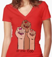 Me too Women's Fitted V-Neck T-Shirt