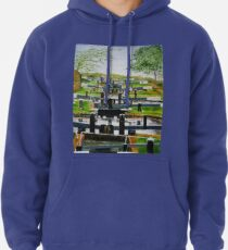 Looking down Audlem locks from lock No. 8 Pullover Hoodie