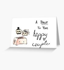 Toast to the Happy Couple Greeting Card
