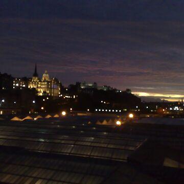 Edinburgh at night by MalcolmKirk