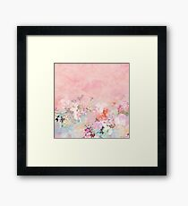 Pastel blush watercolor ombre floral watercolor Framed Print