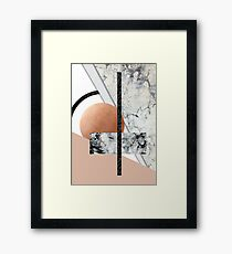 Collage II ( marble, copper, volcanic rock) Framed Print