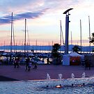 Lakeside at dusk - Lausanne Switzerland by chijude