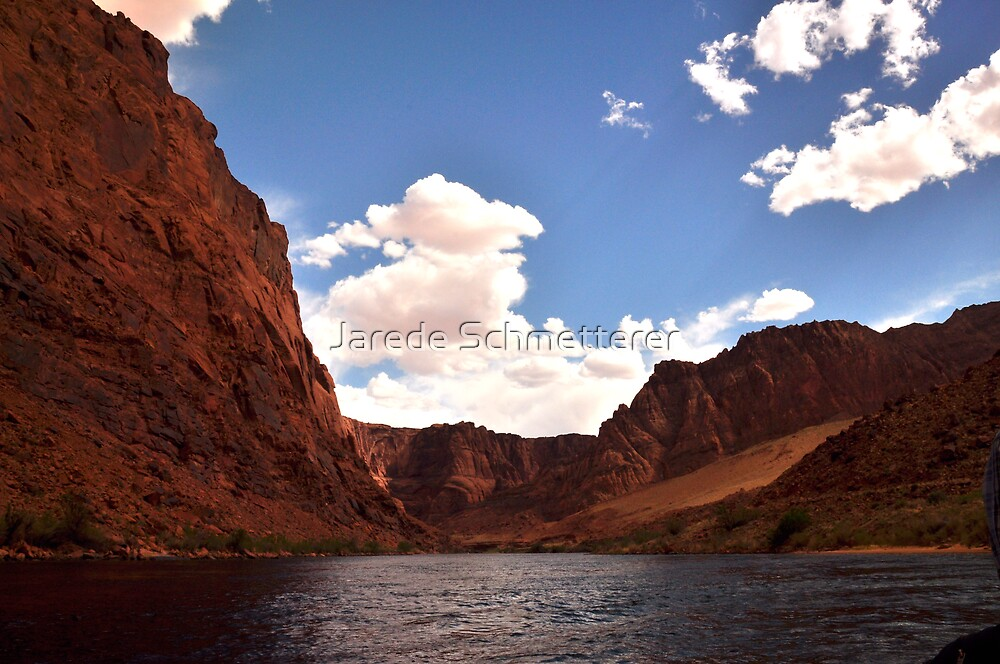 Floating Beneath Blue Skys by Jarede Schmetterer