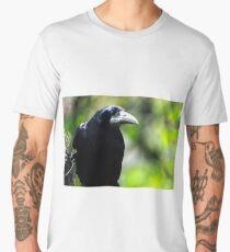 Rook on feeder Men's Premium T-Shirt