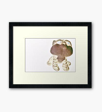 Neon Teddy Cat Framed Print