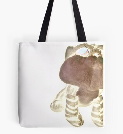 Neon Teddy Cat Tote Bag