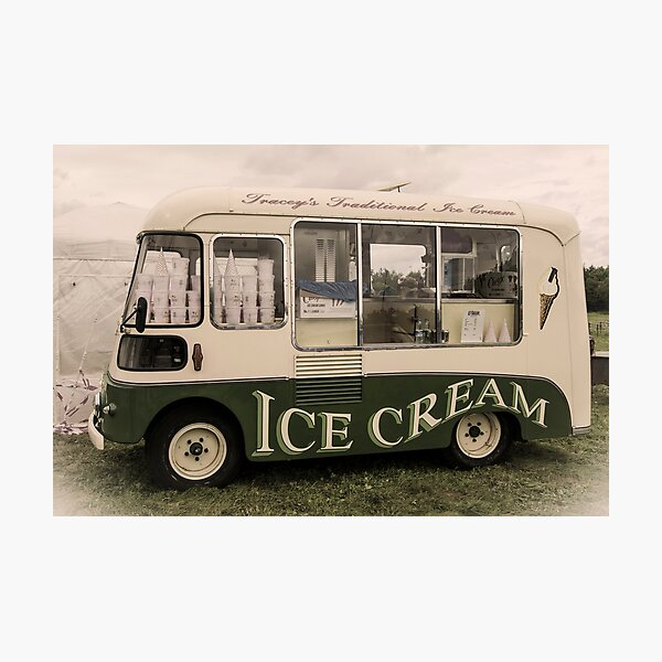 Scream For Vintage Ice Cream Photographic Print