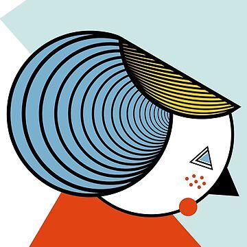 Geometric lady by FLATOWL