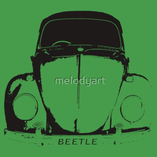 TShirtGifter presents: VW Beetle Shirt - Black