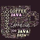 Coffee Lovers Word Cloud 2 by Cheri Sundra