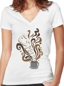 Espresso Women's Fitted V-Neck T-Shirt