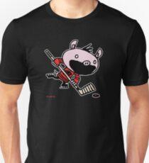 Stormy the Hockey Pig Unisex T-Shirt