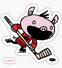 Stormy the Hockey Pig Sticker