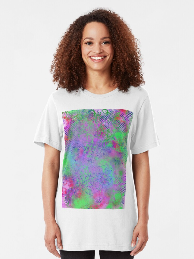 Alternate view of Psychedelia Slim Fit T-Shirt