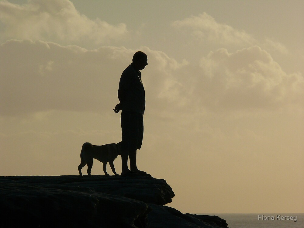 Man and his best friend by Fiona Kersey