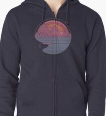 The Mountains Are Calling Zipped Hoodie