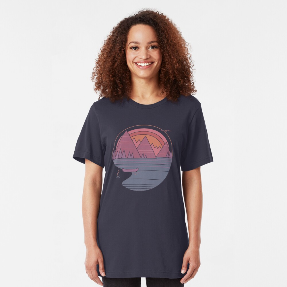 The Mountains Are Calling Slim Fit T-Shirt