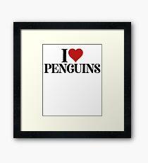I Love Penguins For Jungle Animals Wildlife Framed Print