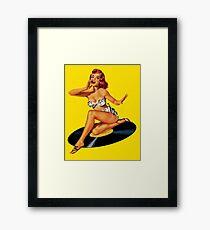Rockabilly Goddess Framed Print