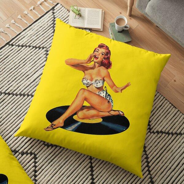 Rockabilly Goddess Floor Pillow