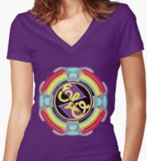 E.L.O. SPACESHIP Women's Fitted V-Neck T-Shirt