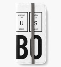 GeNiUS BOBO intelligence brain motivation nerd geek fun cool gifts  iPhone Wallet/Case/Skin